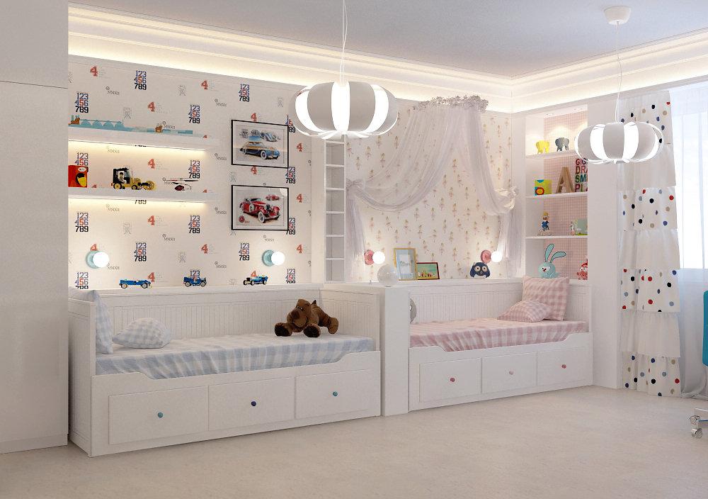 Детская  комната. Проект сдан в 2014 году